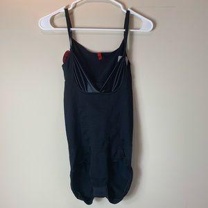 SPANX Intimates & Sleepwear - Spanx Black Slimmer & Shine Open Bust Bodysuit